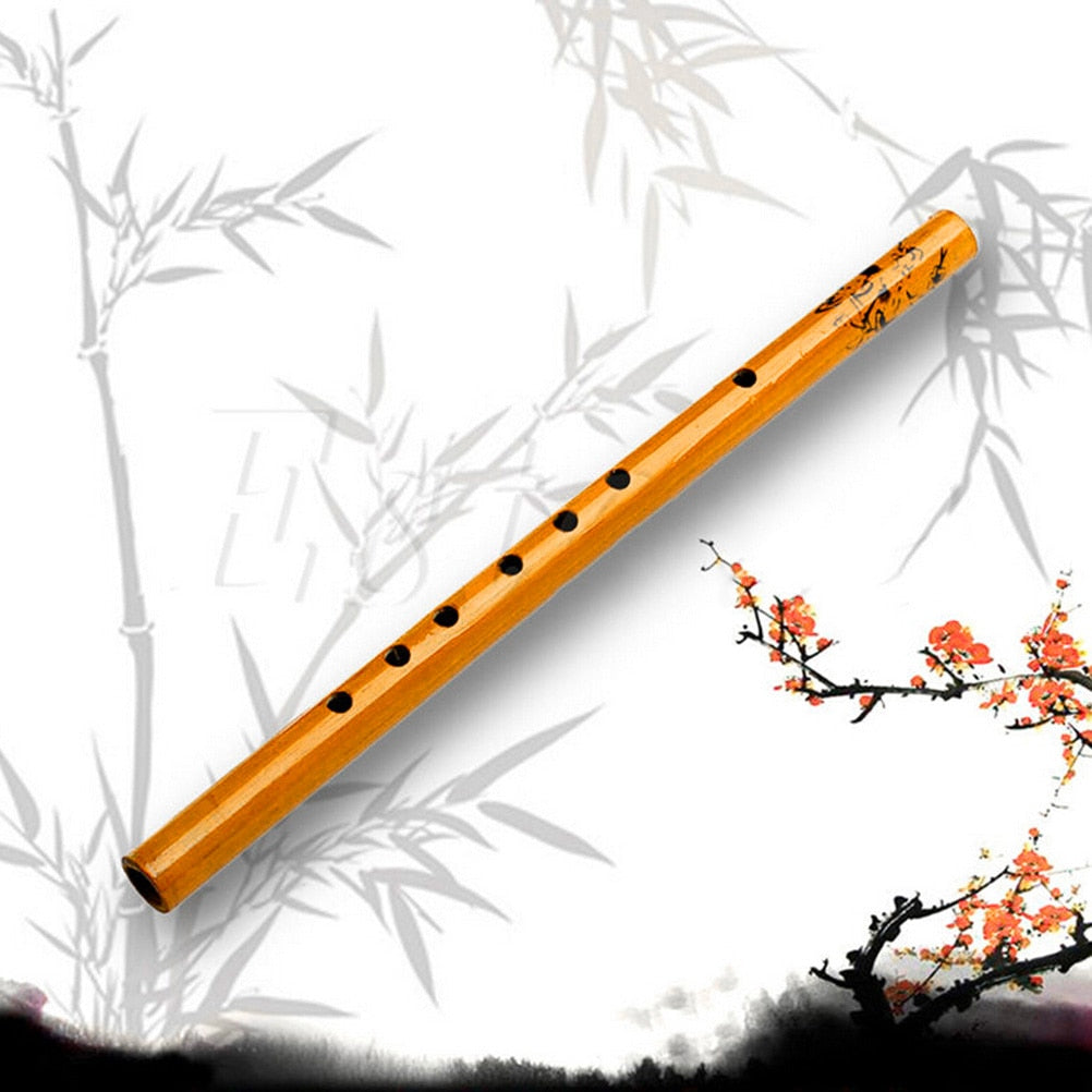 IRIN 1PC Chinese Traditional 6 Holes Bamboo Flute Vertical Flute Clarinet Student Musical Instrument Wooden Color For Kids Gift