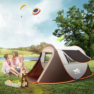 Outdoor Large Camping Tent Full-Automatic Instant Unfold WaterProof Tent Family Multi-Functional Portable Dampproof Tent