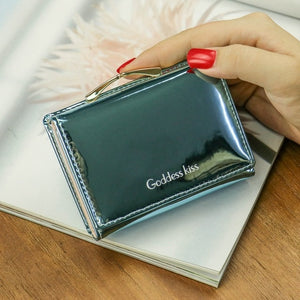 Summer Stylish Women Luxury Laser Girls Leather Wallet Card Holder Coin Purse Clutch Mini Laser Wallet