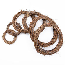 Load image into Gallery viewer, 10cm/15cm/20cm Rattan Ring cheap Artificial flowers Garland Dried flower frame For Home Christmas Decoration DIY floral Wreaths
