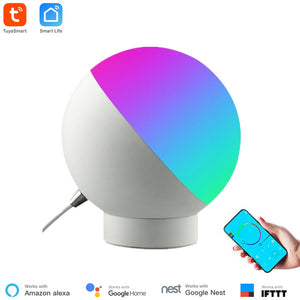 Tuya Smart WiFi Table Lamp Wireless Control Colorful Dimmable Desk Night Light Voice Control Via Alexa Google Home Smart Home