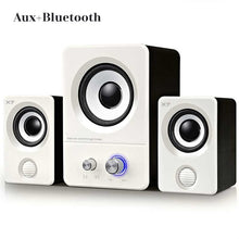 Load image into Gallery viewer, USB Powered/Bluetooth Computer Speaker System subwoofer for Music/Gaming/Movies, Active Multimedia Stereo Sound music center TF
