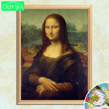 "Da Vinci Famous Painting ""Mona Lisa"" 5D DIY Diamond Painting Full Square Diamonds Embroidery Rhinestone Mosaic Picture Home Decoration"