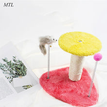Load image into Gallery viewer, Kitten scraper cat tree Tower scratching post cat scratches sisal rope toys  cat scratcher krabpaal rascador gato arbol