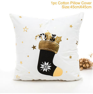 Christmas Pillowcases Merry Christmas Decor for Home Noel Christmas Gifts Navidad 2019 Xmas Cristmas Decor Happy New Year 2021