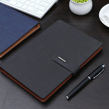 Load image into Gallery viewer, Notebook A5 Business office gift metal button page notebook study meeting gift diary note