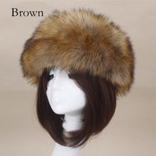 Load image into Gallery viewer, Thick Furry Hairband Fluffy Russian Faux Fur Women Girl Fur Headband Hat Winter Outdoor Ear warmer Ski Hats Hot