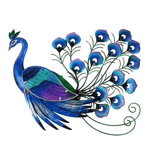 Animal Metal Peacock Wall Artwork for Garden Decoration Outdoor Statues Miniatures Sculptures and Garden Ornaments