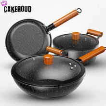 Load image into Gallery viewer, Kitchen Classic Maifan Stone Non-stick Cookware Set Household Food Grade Coated Frying Pan. Soup Pot. Frying Pan Three-piece