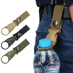 1pcs Hanging Buckle for Water Bottle Ring Holder Mineral Water Bottle Clip for Backpack Belt Outdoor Camping Hiking Tools