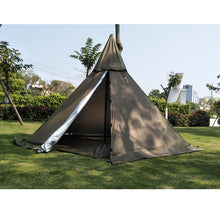 Load image into Gallery viewer, A5 Pyramid tent with a chimney hole/A tower smoke window tent Park survival Indian tent Field survival outdoor tent
