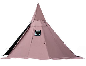 A5 Pyramid tent with a chimney hole/A tower smoke window tent Park survival Indian tent Field survival outdoor tent