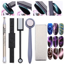 Load image into Gallery viewer, Nail Art Magnet Stick Cat Eye Magnet for UV Gel Varnish Polish 9D Cat Eye Line Strip Effect Strong Magnetic Pen Nail Art Tools