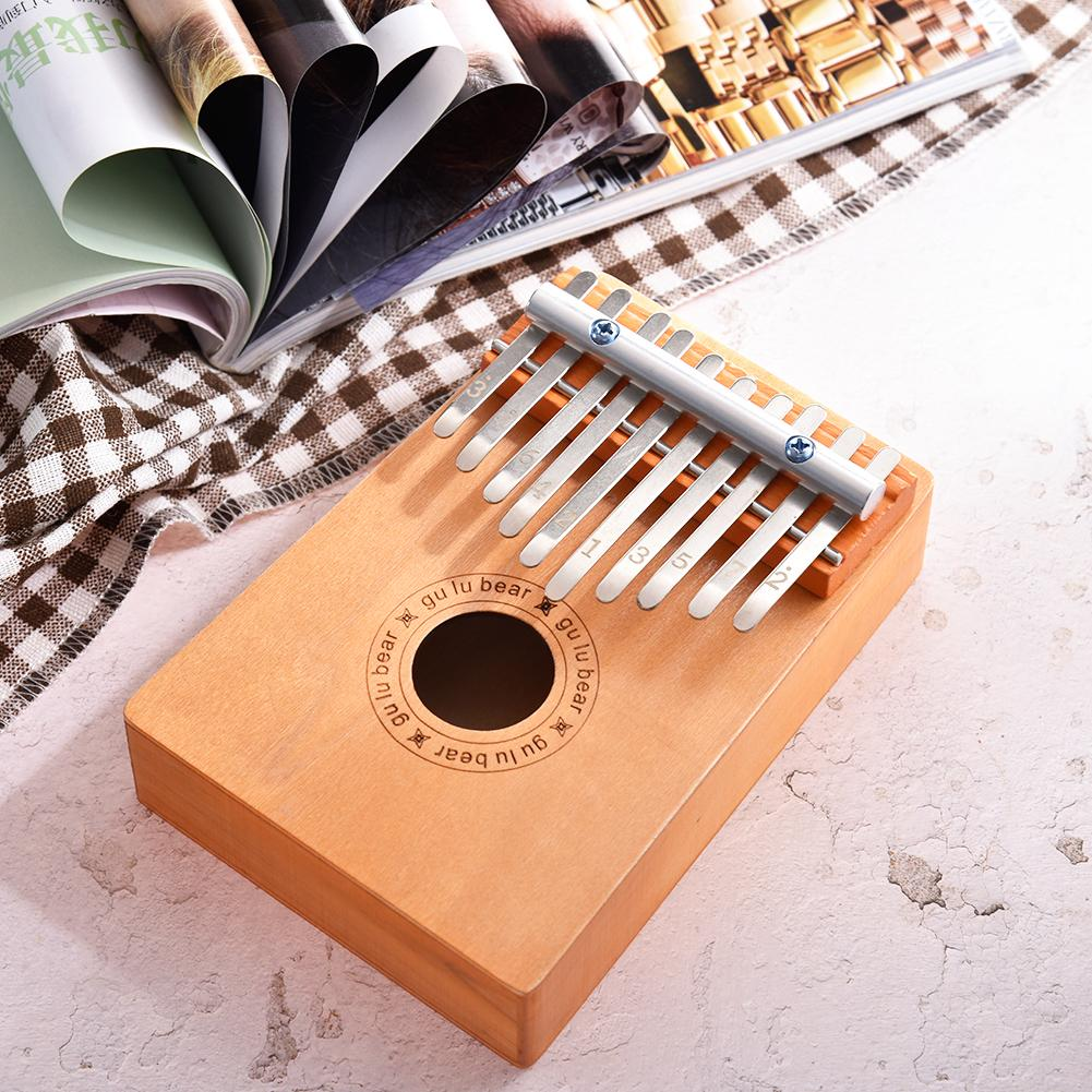 10 Key Finger Kalimba Traditional Africa Pray Wood Finger Kalimba Thumb Piano Pocket Size Keyboard Musical Instrument