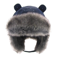 Load image into Gallery viewer, Kids Thickened Fur Hats Winter Windproof Keep Warm Hat for Girls Boys Cute Little Ear Ushanka Cap Children 0-4 Years Bomber Cap