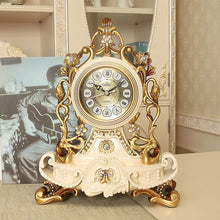 Load image into Gallery viewer, Hot Luxury European Table Clock Home Decoration Resin Desk Clock Bedroom Office Desktop Clock Desk Royalty Home Watch Table