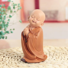 Load image into Gallery viewer, Monk Figurines Car Decoration Crafts,Home Decor Kungfu Monks Figure Car Ornament Buddha Boy Accessories Figurines Tea Pet