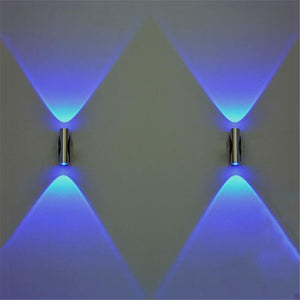 Double-headed LED Wall Lamp Home Sconce Bar Porch Wall Decor Ceiling Light Blue Home improvement Home accessories