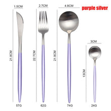 Load image into Gallery viewer, Spklifey Dinnerware Set Stainless Steel Cutlery Set Spoon Fork Knife Western Steel Cutlery Set Kitchen Accessories for Home