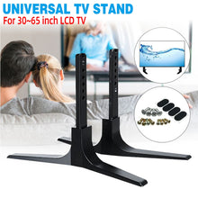 Load image into Gallery viewer, DIDIHOU 32-65 Inch LCD TV Height Adjustable Universal TV Stand Base Table Top Flat TV Aluminum Alloy Stand Legs Easy Install