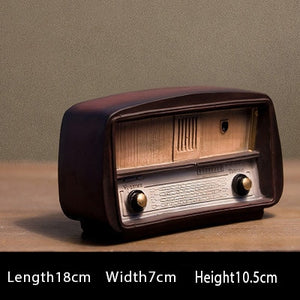 Europe style Resin Radio Model Retro Nostalgic Ornaments Vintage Radio Craft Bar Home Decor Accessories Gift Antique Imitation