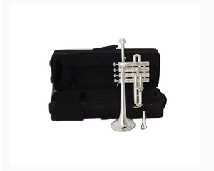 Professional Bb Piccolo Trumpet Brass Gold Lacquer Surface Trumpet Three Tone Trumpet High Quality Monel Piston