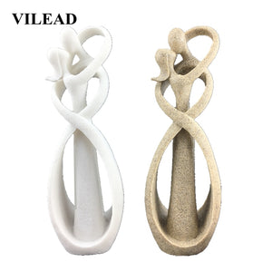 23cm Sandstone Kissing Lover Statuettes Wedding Statue Decoration Anniversary Souvenirs Figurines Ornaments For Home Gift