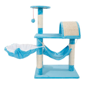 "M46 32"" Stable Cute Sisal Cat Climb Holder Cat Tower Lamb Blue cat scratcher  cat scratching post  for cats tree climbing"