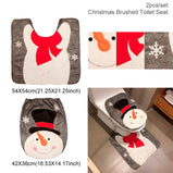 Christmas Decor Flannel Carpet Home Rug Bathroom Doormat Merry Christmas Decor 2021 Navidad Xmas Party Decor Happy New Year
