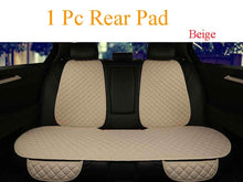 Load image into Gallery viewer, Large Size Flax Car Seat Cover Protector Linen Front or Rear Seat Back Cushion Pad Mat Backrest for Auto Interior Truck Suv Van