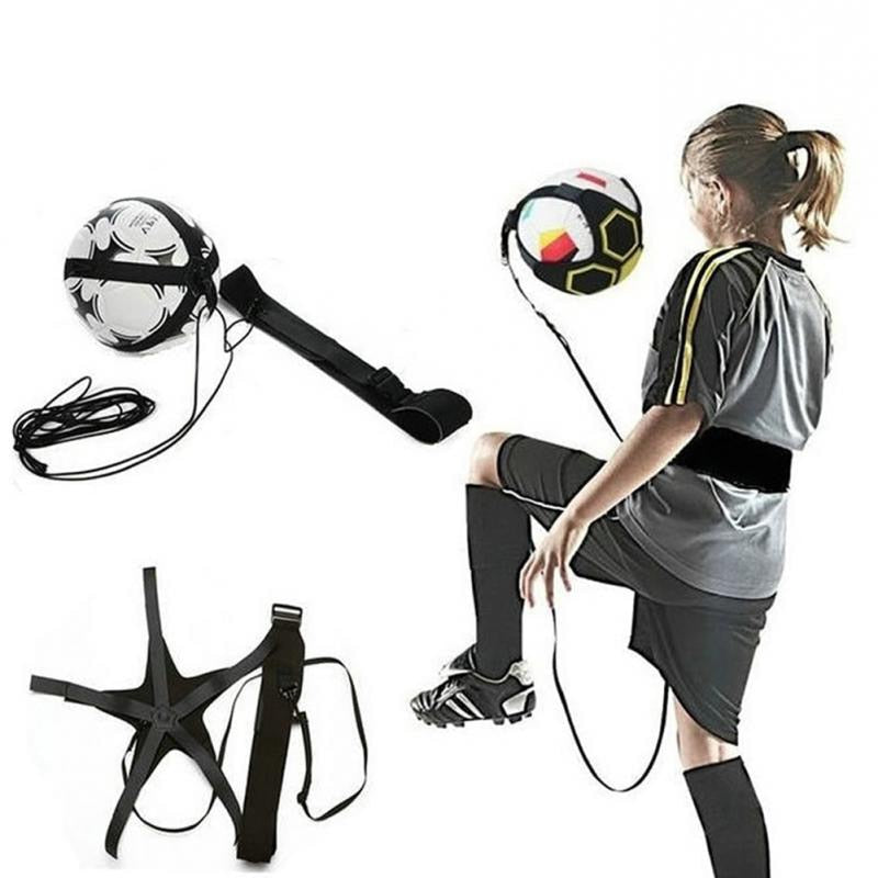 Soccer Training Football Trainer Sports Assistance Adjustable Soccer Ball Practice Belt Training Equipment Kick