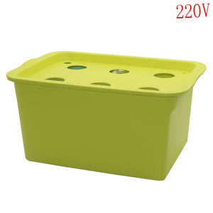 1 Set 6 Holes Plant Site Hydroponic System Indoor Garden Cabinet Box Grow Kit Bubble Garden Pots Planter Nursery Pot