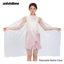 Load image into Gallery viewer, Univinlions 130*150 Disposable PE Waterproof Apron Cut Perm Dye Hair Cape Gown Antistatic Barber / HomeWrap Hairdressing Cloth