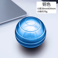 Load image into Gallery viewer, 38mm Desktop Decompression Rotating Spherical Gyroscope Office Desk Fidget Toys Optical Illusion Flowing Finger Fidget Toys