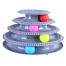 Load image into Gallery viewer, Funny Pet Interactive Toy Cat Colorful 3/4-Layer Plastic Tower Tracks Toy With Balls For IQ Traning