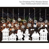 DIY Christmas Decorations Window Sticker Christmas Decoration For Home Xmas Decor Merry Christmas 2021 Happy New Year