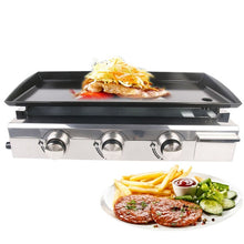 Load image into Gallery viewer, ITOP 2/3/4 Burners Gas Grills BBQ Plancha Steak Beaf Frying LPG Gas Griddle Plancha Iron Cooking Plate Outdoor Teppanyaki Tools