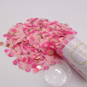 Push Pop Party Confetti Poppers Decoration for Wedding Happy Birthday Flower Mini Round Confetti Gender Reveal Party