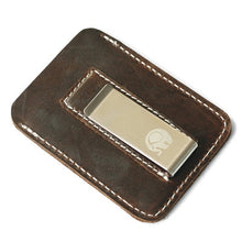 Load image into Gallery viewer, Genuine Leather Money Clip Metal Men Card Pack Slim Bills Cash Clips Clamp for Money Thin Billfold Holder Cheap NEW