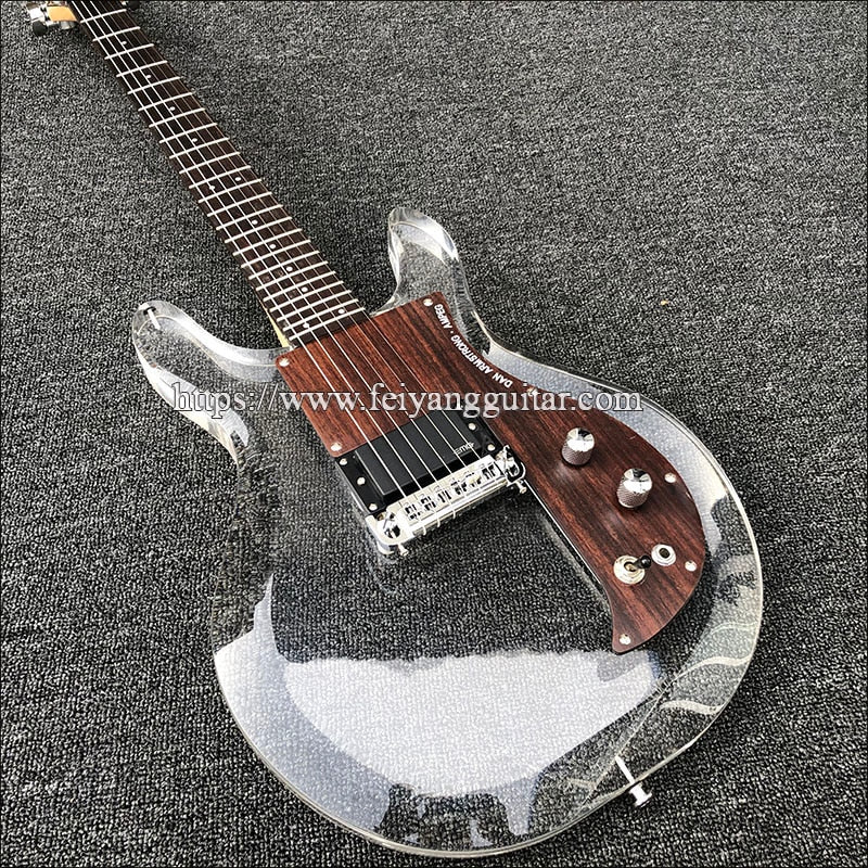 High quality Custom Guitar,Dan Armstrong acrylic polymer electric guitar,24 frets acrylic polymer guitar,Free shipping