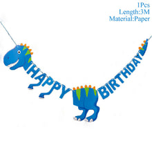 Load image into Gallery viewer, Kids Happy Birthday Banners Dinosaur Party Decor Baby Shower Boys Birthday Party Decorations Kids Safari Party Supplies