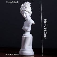 Load image into Gallery viewer, 36cm Resin Freya Goddess Statuettes Living Room Home Art Sculpture Study Room Window Creative Portrait Decoration Gifts
