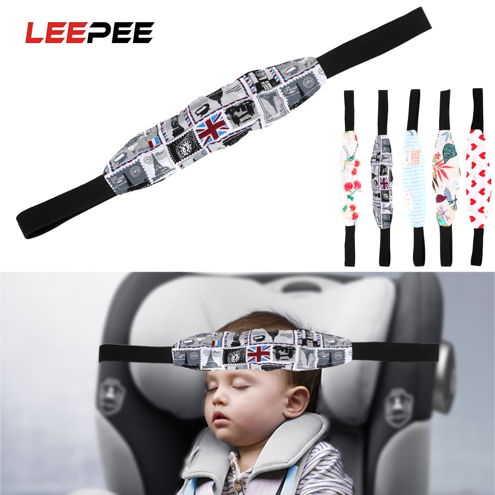 LEEPEE Child Car Safety Seat Head Fixing Auxiliary Cotton Belt Baby Pram Safety Seat Holder Belt Kids Sleep Head Support Holder