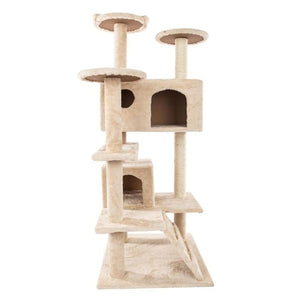 52 inch Cat Climbing Tree Board Cat Kitten Scratching Post Toy Pet Jumping Frame Tower Climbing Frame House Pets Accessories