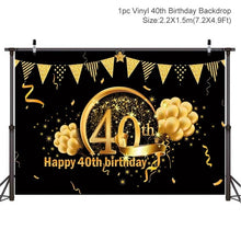 Load image into Gallery viewer, Birthday Background Decor 30th 40th 50th Birthday Party Decor Adult Birthday Party Supplies 30 Years Anniversary