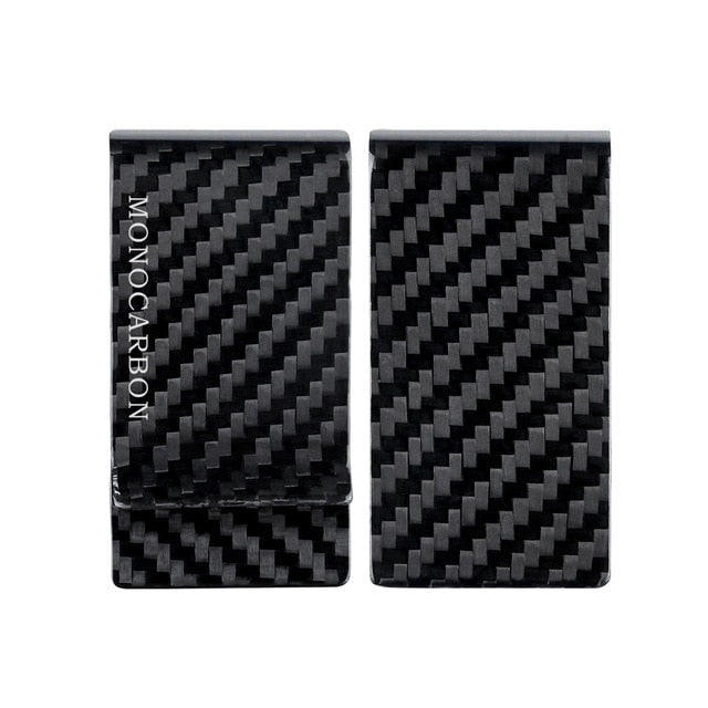 Monocarbon Minimalist Genuine Carbon Fiber Money Clips Wallets Aramid Fiber Clamp For Money
