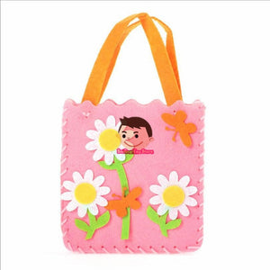 Non-Woven Fabric DIY Handbag Children Craft Toy Mini Bag Non-woven Cloth Colorful Handmade Bag Cartoon Animal Children Handbags