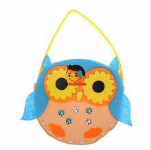 Load image into Gallery viewer, Non-Woven Fabric DIY Handbag Children Craft Toy Mini Bag Non-woven Cloth Colorful Handmade Bag Cartoon Animal Children Handbags