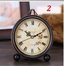 Load image into Gallery viewer, 4 inch Retro  American Desktop Alarm Clock Silent Clock  Creative Mute Watch Home Bedroom Office Clocks