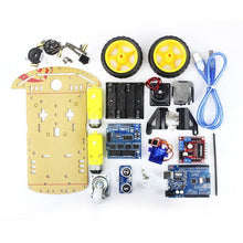 Load image into Gallery viewer, Cheap Smart Robot Motor Car Chassis Kit Avoidance Tracking Speed Encoder Battery Box 2WD Ultrasonic Module for Arduino Diy Kit